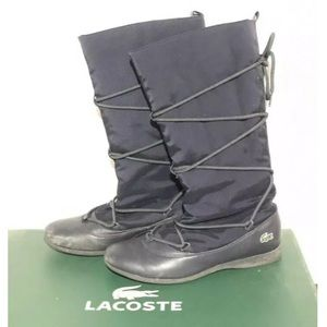 LACOSTE FROST BOOT WEATHERPROOF LEATHER LACE NAVY